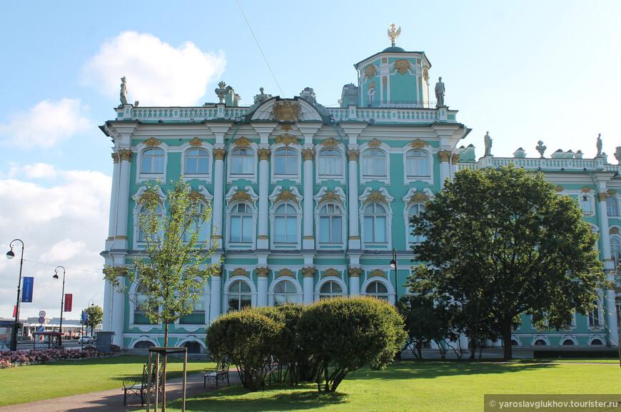 Вид на Эрмитаж из сада Зимнего дворца.