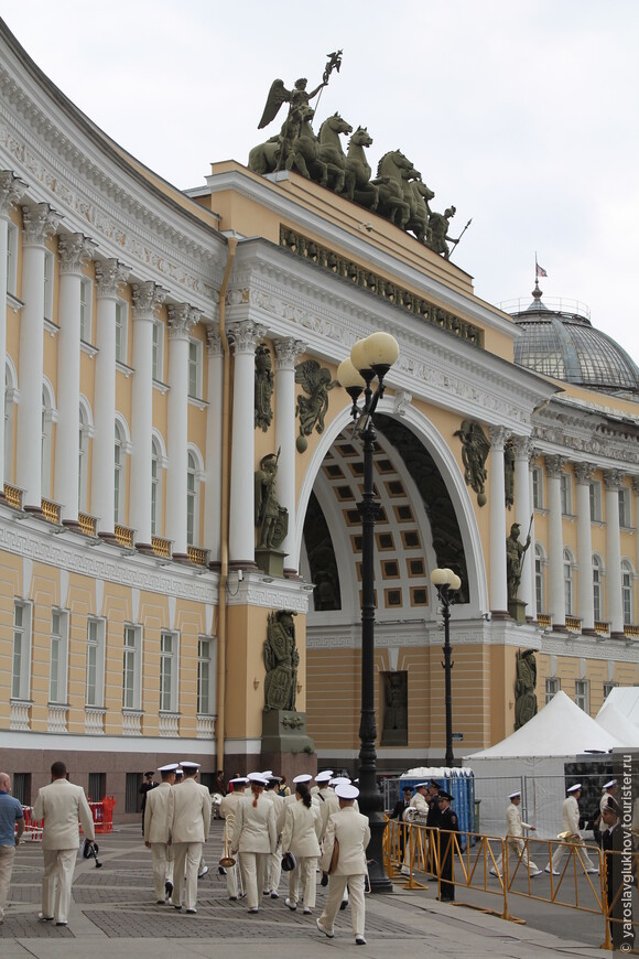 Арка Главштаба. Вид с Дворцовой площади.