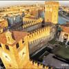 Средневековый замок Кастелвеккио. Вид сверху
