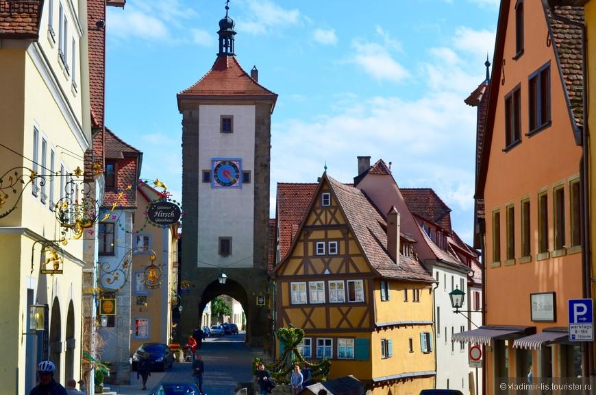 Очаровательная развилка Das Plönlein. Наверно, самое популярное среди туристов место съемки