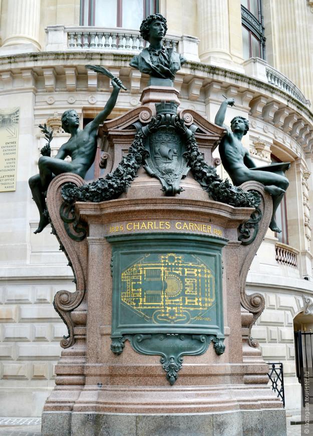 Памятник талантливому архитектору Шарлю Гарнье