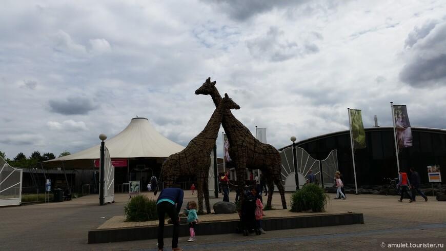 центральный вход в зоопарк