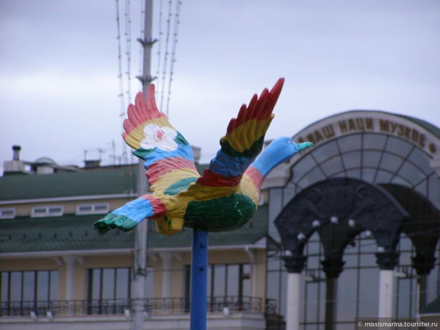Чувашский национальный музей и  птица Счастья