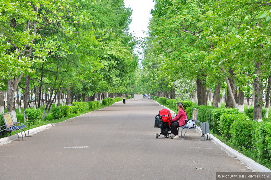 05. Город зеленый, как и все города Башкирии.