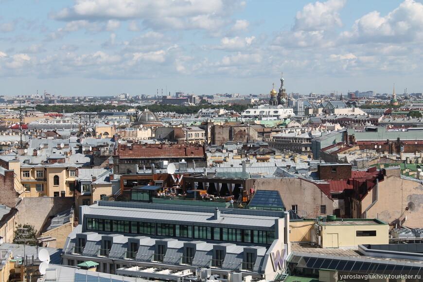 Крыши Петербурга. Здесь можно заметить здание Главного штаба, Спас-на-Крови и Михайловский замок.