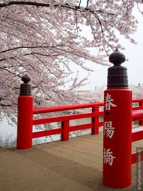 Мост у Hirosaki Castle, Хиросаки, Япония
