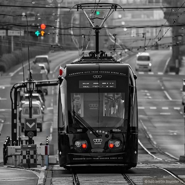 Городской трамвай в Кумамото (Япония)