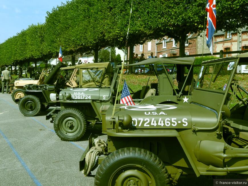 Праздник в честь освобождения Нормандии. Боевые машины коалиционных войск.
