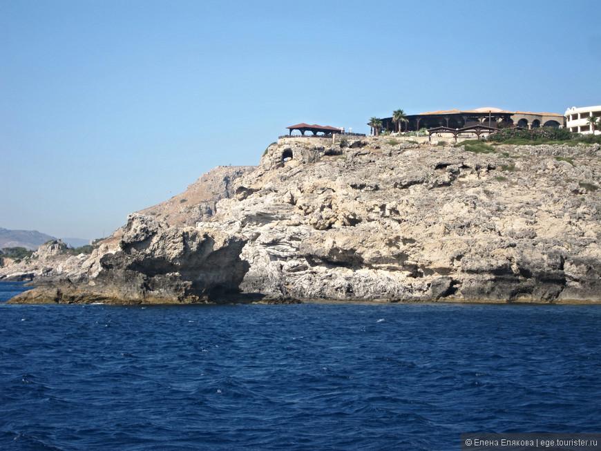 Восточное побережье острова Родос (Средиземное море)