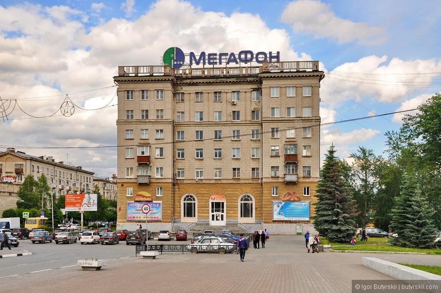 02. В центральной части города преобладает советская застройка.