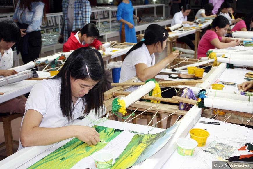 Вьетнамские мастерицы картин