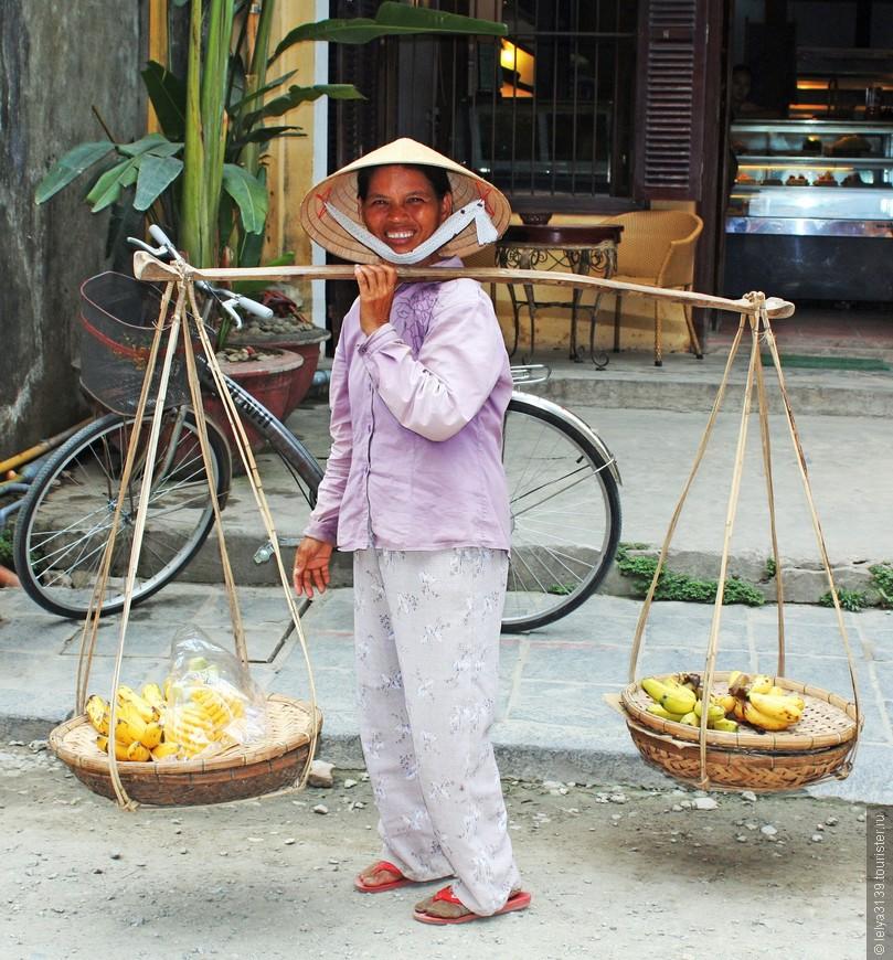 Очаровательная продавщица бананов
