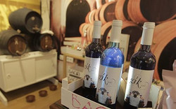 Оригинальный сувенир из Испании - голубое вино