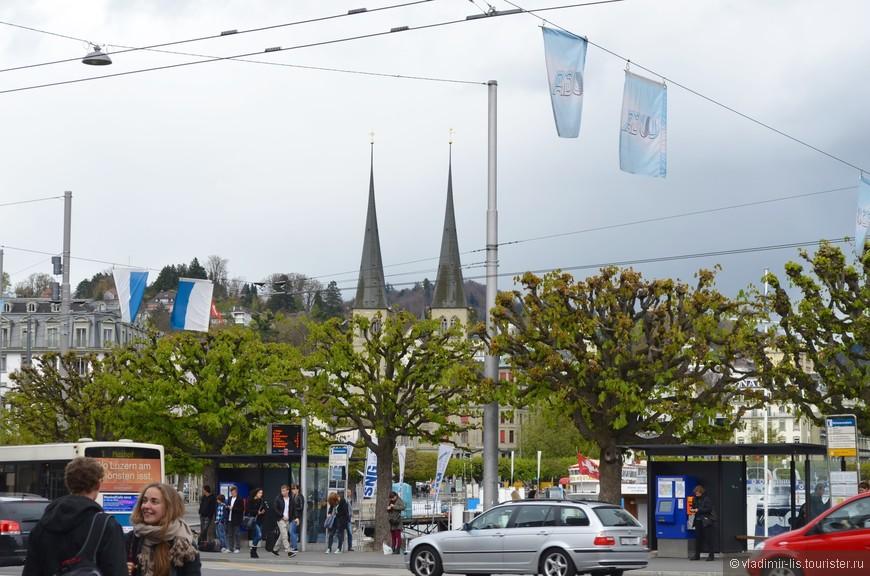Люцерн хоть и небольшой город, но трафик достаточно оживленный
