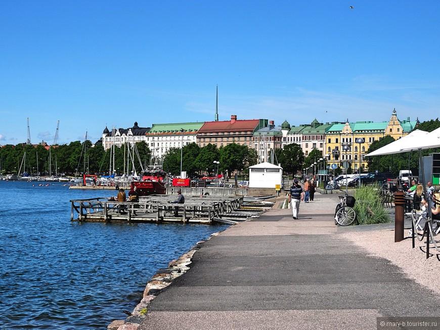 Набережная Финского залива в южном Хельсинки