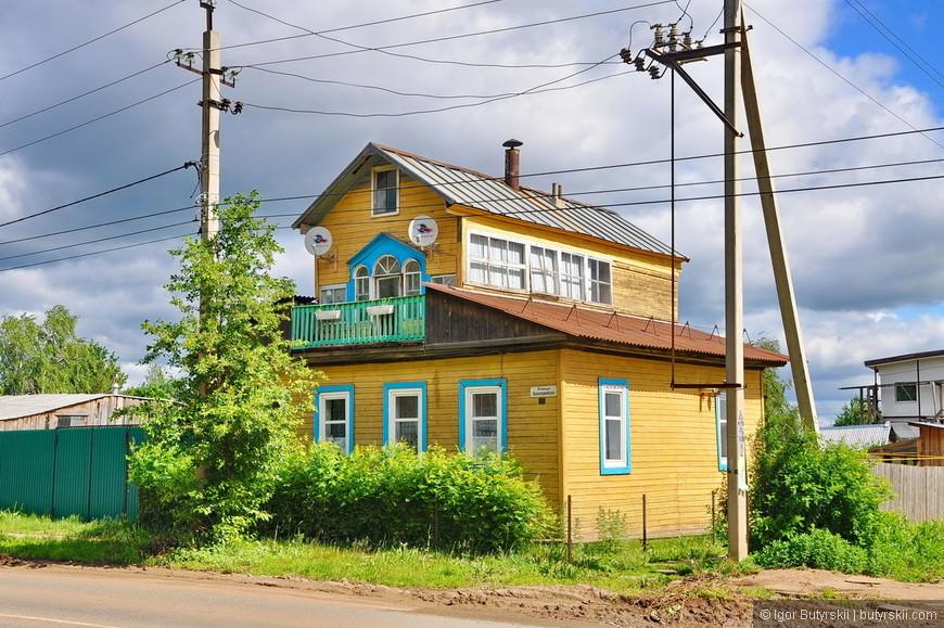 10. Тоже очень красивый домик с балконом. Исторический центр в Воткинске поделен на разные «эпохи», приятно прогуливаться по городу.