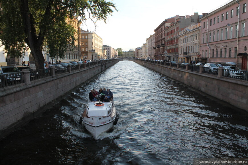 Канал Грибоедова вечером.
