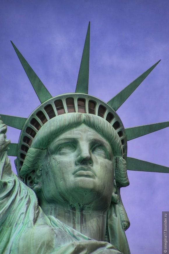 """""""Загляни в глаза свободе"""" называется. И почему на голове у Свободы такие жуткие шипы? Есть парочка версий, чье лицо служило прототипом, но ни одна из версий не является достоверной..."""