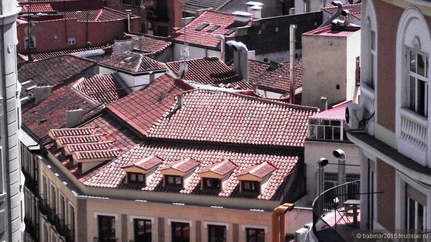 Балкончик и крыши Мадрида