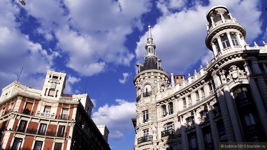 Фасады и балконы моей любимой площади Мадрида - Plaza de Canalejas