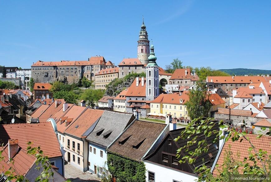 Вид на сердце города - Крумловский замок.