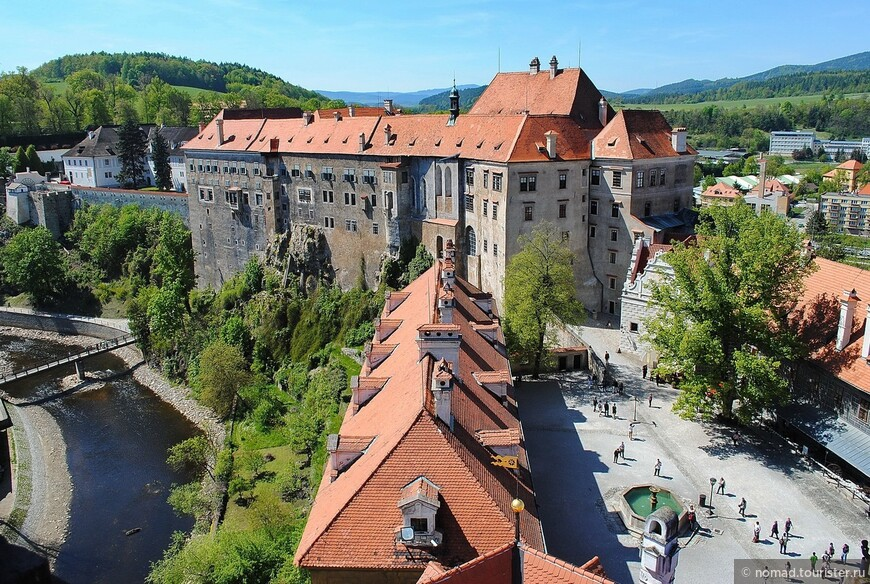 Вид с Башни Крумловского замка