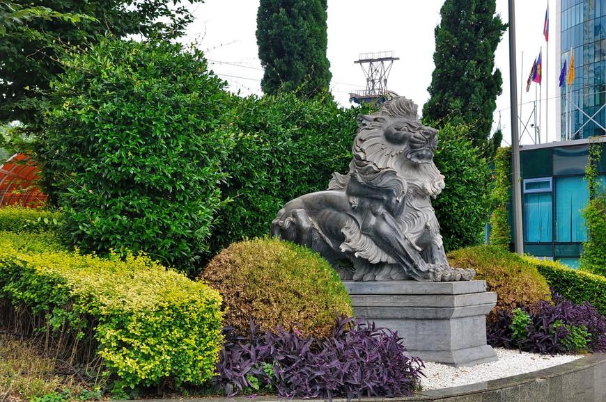 38. Шикарный лев в Адлере возле гостиницы на проспекте Ленина.