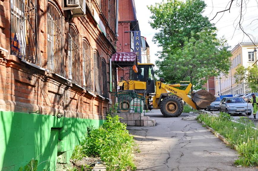20. В центре идет масштабная реконструкция, дороги меняют «под ключ», главное, чтобы не убирали рельсы.