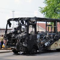 В Китае сгорел автобус с российскими туристами