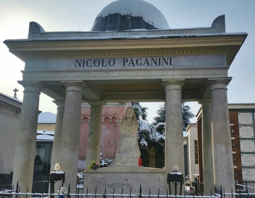 Могила Н. Паганини Кладбище Вилетта