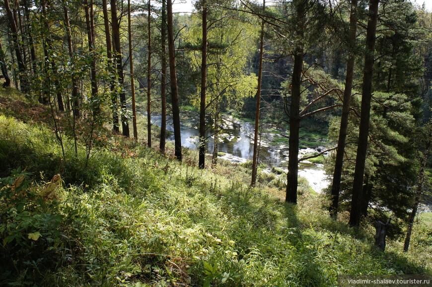 Если проехать дальше, а в деревне Мозгово повернуть направо, проехать через поля, то можно выехать к памятнику природы - каньону змей.