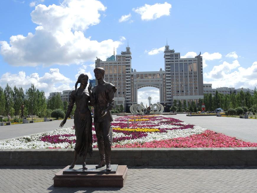 Скульптура в Парке влюблённых