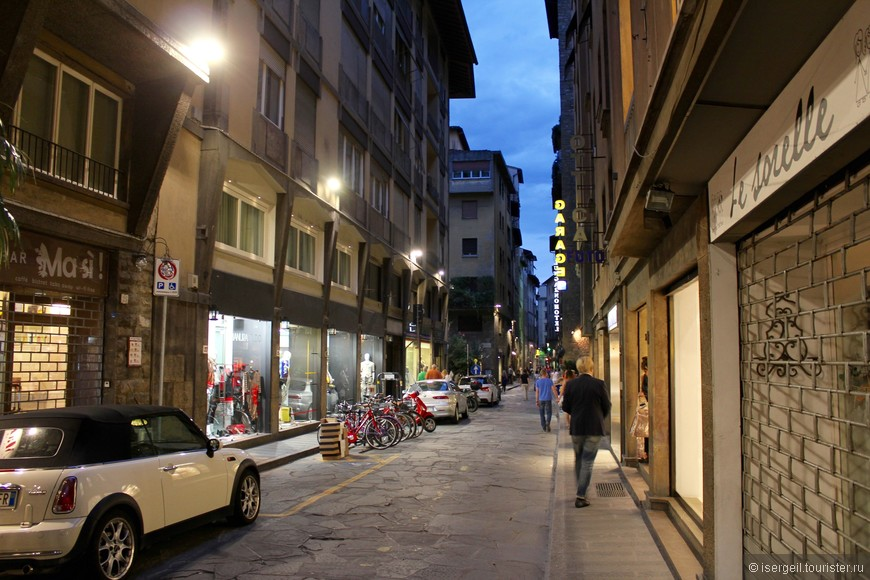 Ночные улицы Флоренции.