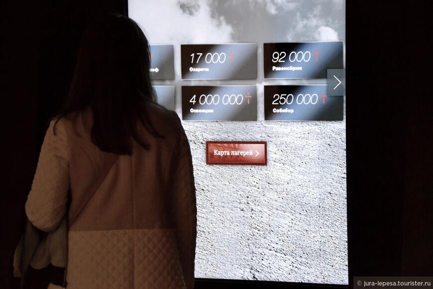 Хочется еще обратить внимание на множество сенсорных экранов,они величиной больше человеческого роста.
