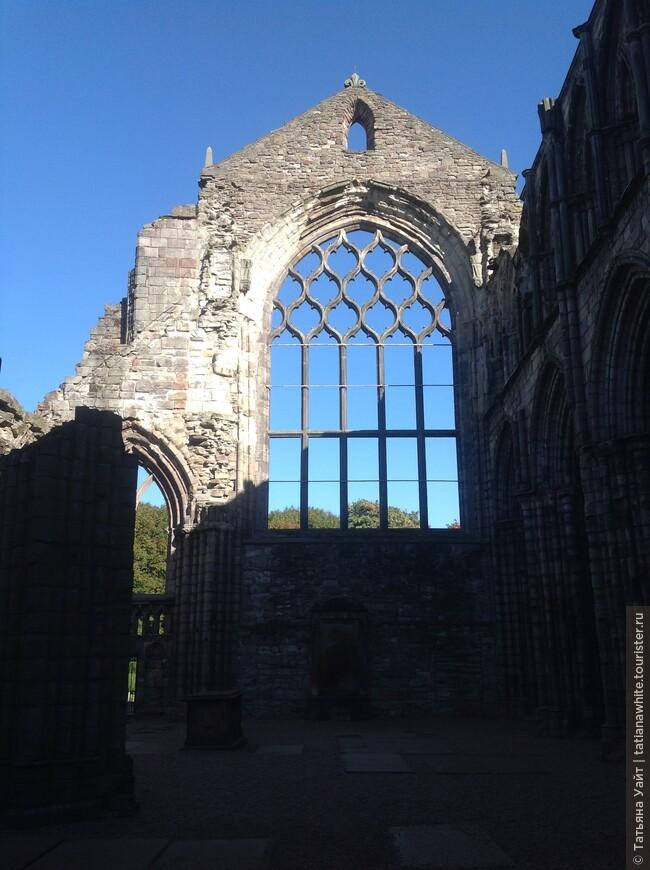 Через руины Аббатства 12 века можно увидеть - небо!