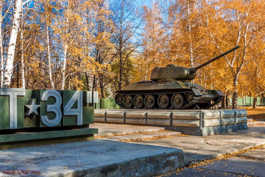 Небольшой музей военной техники под открытым небом...