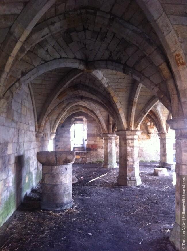 Крипта разрушенного средневековой больницы, церковной обители - Святого Леонарда