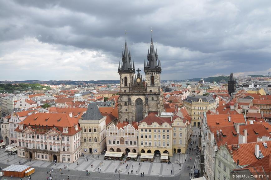 Вид из башни Староместской ратуши