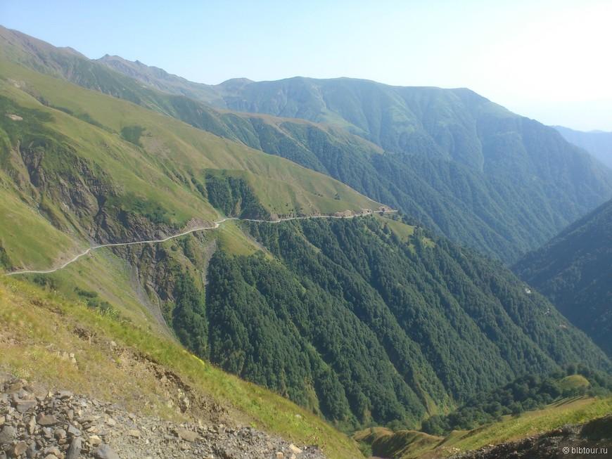 дорога в горы Тушетии