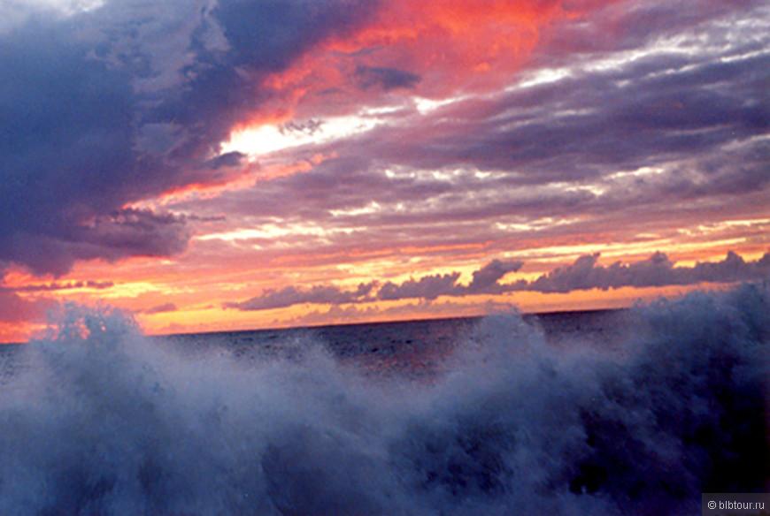 Черное море....закат...