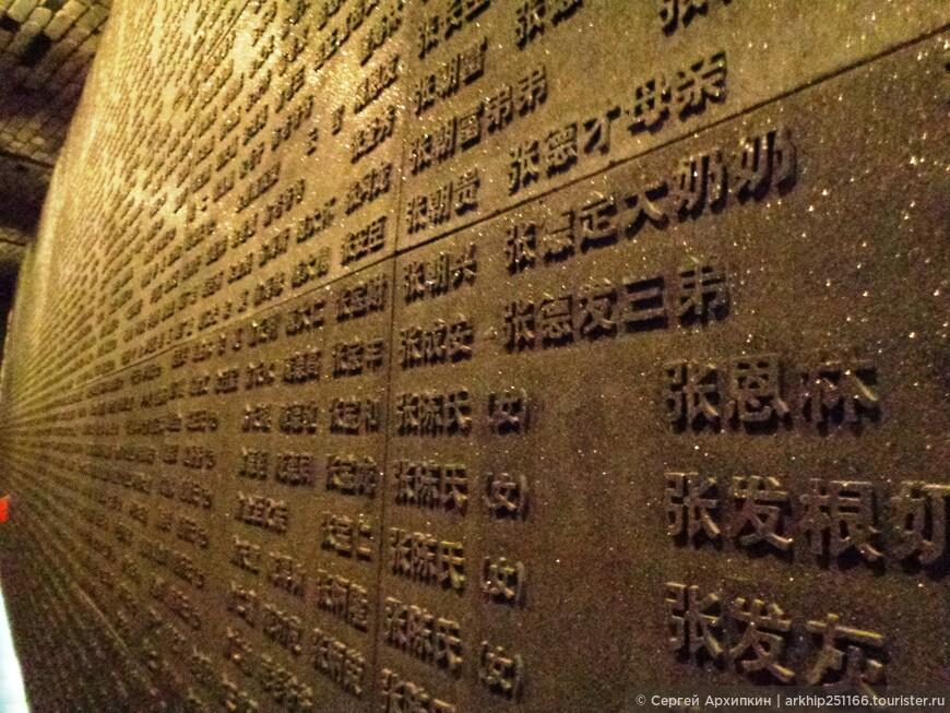 Здесь указаны фамилии и имена замученных