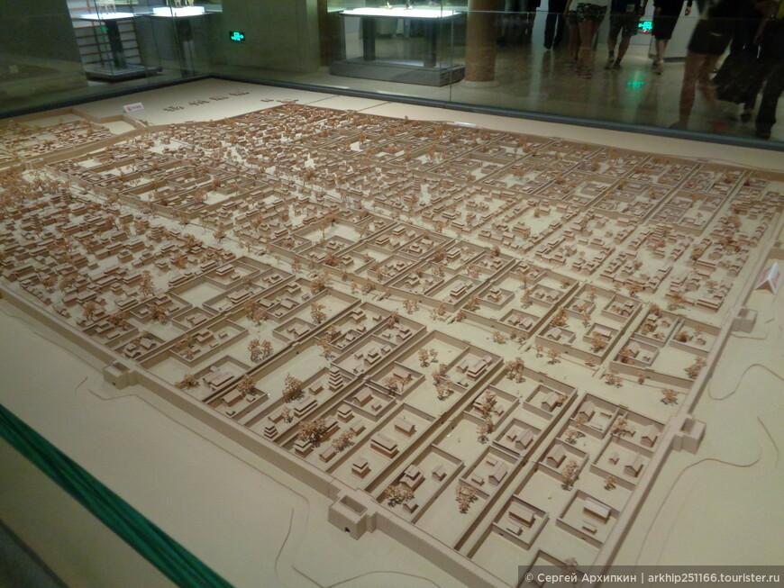 Воссозданный план средневекового Нанкина