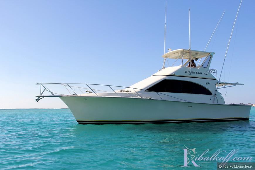 Моторная яхта для рыбалки и морских прогулок Пунта Кана, Доминикана.
