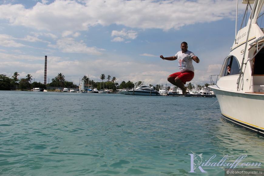 Прыжки в воду в исполнении Хосе Аристо