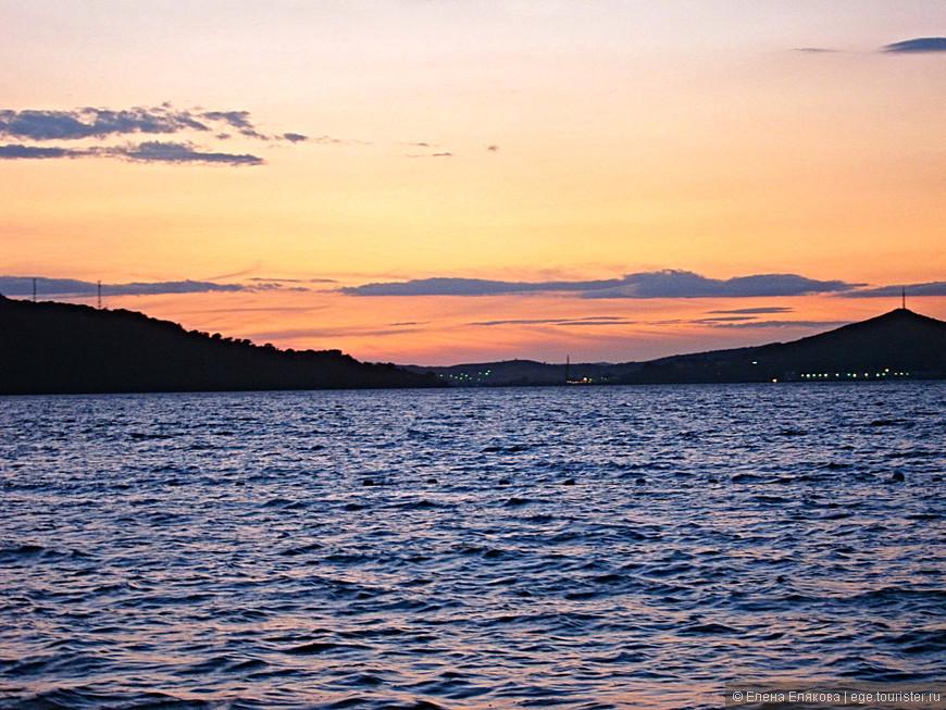 Закат над морем и Зарубино