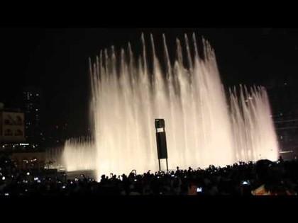 Фонтан около Бурдж Халифа (Дубай)., 04:16
