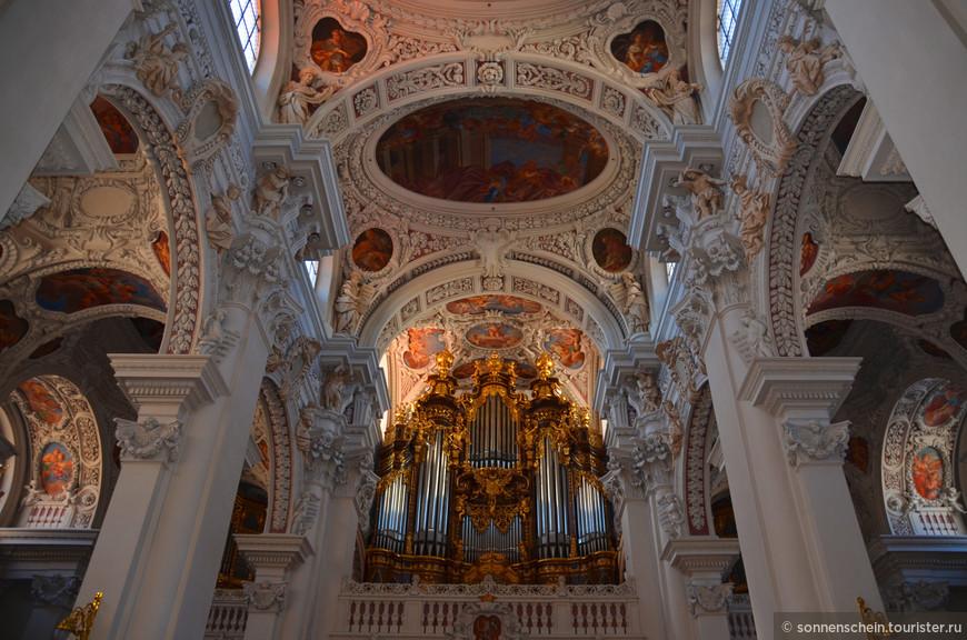 На месте нынешнего собора епископская церковь стояла по крайней мере уже с 739 года. В 985 году была построена новая кирха в романском стиле, до 1390 году храм был перестроен в готическом стиле, а до 1570 — расширен и перестроен в позднеготическом виде. Большой городской пожар в Пассау 1662 года разрушил значительную часть церкви и новый молодой и энергичный князь-епископ Пассау Венцеслау решил восстанавливать Собор Пассау по образцу итальянских барочных церквей. Архитектором строительства был назначен Карло Лугаро из северной Италии, известный своими работами в Праге и Богемии. Вместе с Лугаро на разных «объектах» всегда трудилась сплоченная команда итальянских мастеров, своеобразное товарищество земляков, деливших заработок поровну на всех.