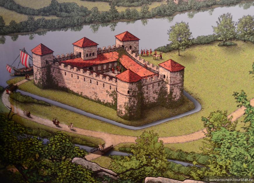 Вот как всё начиналось.Первый раз Оберхаус упоминается в свидетельствах от 1232 года.