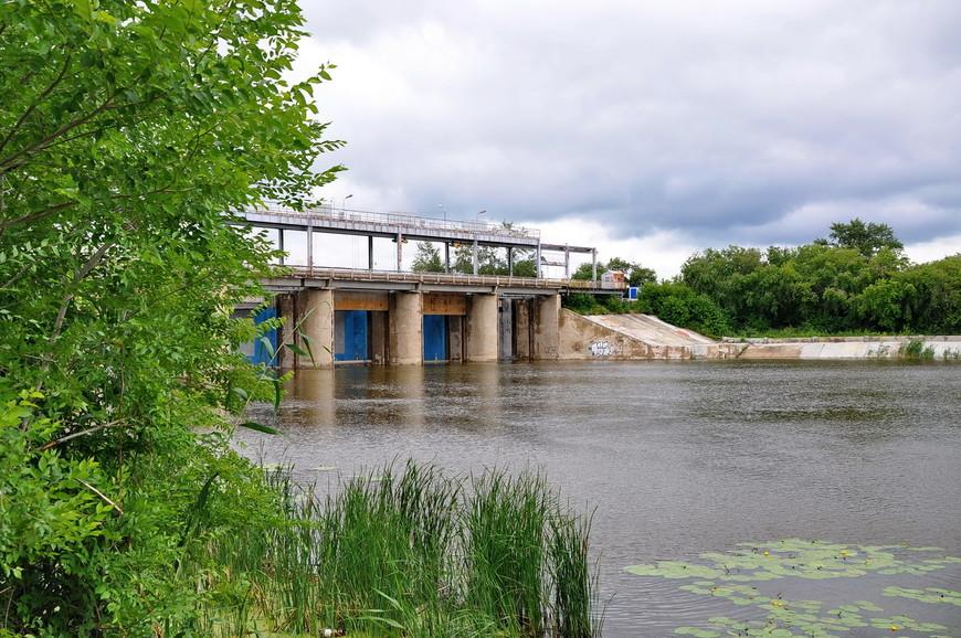 08. Мост и плотина на реке. Практически Енисей.