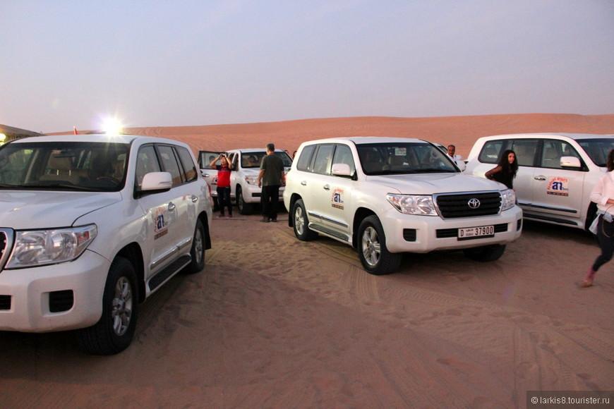 После заката всех туристов развозят по разным площадкам для ужина и вечернего шоу. Так как это очень популярное развлечение в Дубае, то площадок много, но они на расстоянии друг от друга, так что никто никому не мешает.